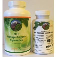 Balíček MTT moringa-tragant-topinambur + Bio moringa oleifera 120 kapsúl prémium