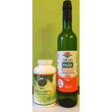 Balíček MTT moringa-tragant-topinambur + Aloe vera šťava 500 ml